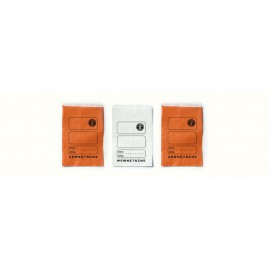 """Torebka apteczna papierowa płaska pomarańczowa """"7"""" 10 x 15 cm (100 szt.)"""