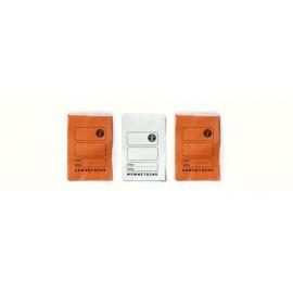 """Torebka apteczna papierowa płaska pomarańczowa """"9"""" 12 x 17 cm (100 szt.)"""