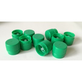 Nakrętka zielona fi 22 z pierścieniem gwarancyjnym i kroplomierzem (10 szt.)