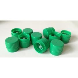 Nakrętka zielona fi 22 z pierścieniem gwarancyjnym i kroplomierzem (100 szt.)
