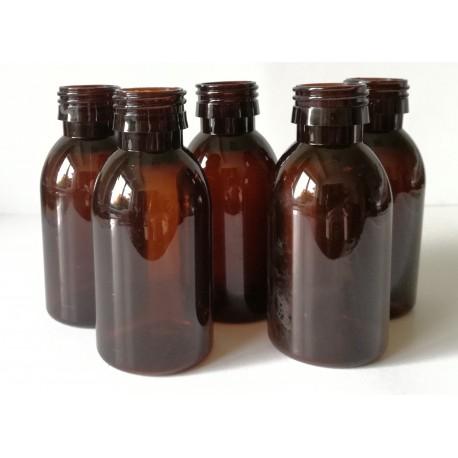 Butelka PET 100 ml fi 28 brązowa