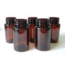 Butelka PET brązowa 100 ml fi 38