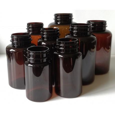 Butelka PET 200 ml fi 38 brązowa