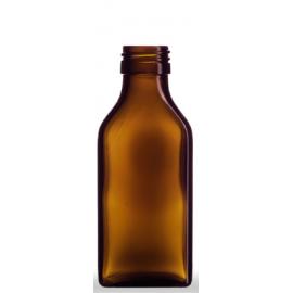 Butelka płaska 100 ml fi 28 (10 szt.)