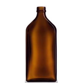 Butelka płaska 500 ml fi 28 (10 szt.)