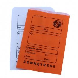 """Torebka recepturowa papierowa płaska pomarańczowa """"7"""" 10 x 15 cm (100 szt.)"""