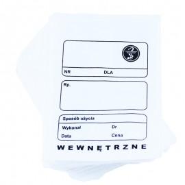 """Torebka recepturowa papierowa płaska biała """"9"""" 12 x 17 cm (100 szt.)"""