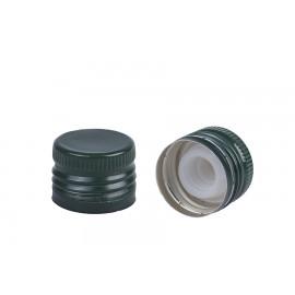 Zakrętka zielona fi 31,5/24 z plastikowym niekapkiem (100 szt.)