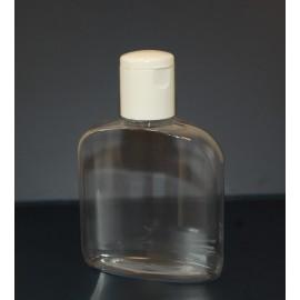 Butelka PET bezbarwna 150 ml_fi 28 z białą nakrętką
