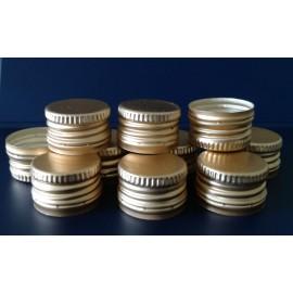 Zakrętka złota fi 28/18 z pierścieniem gwarancyjnym wkładka PE (10 szt.)