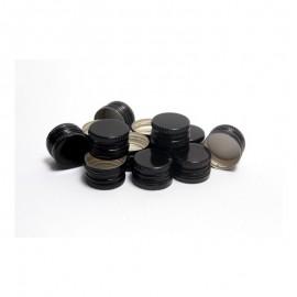 Zakrętka czarna fi 28/18 z pierścieniem gwarancyjnym wkładka PE (100 szt.)